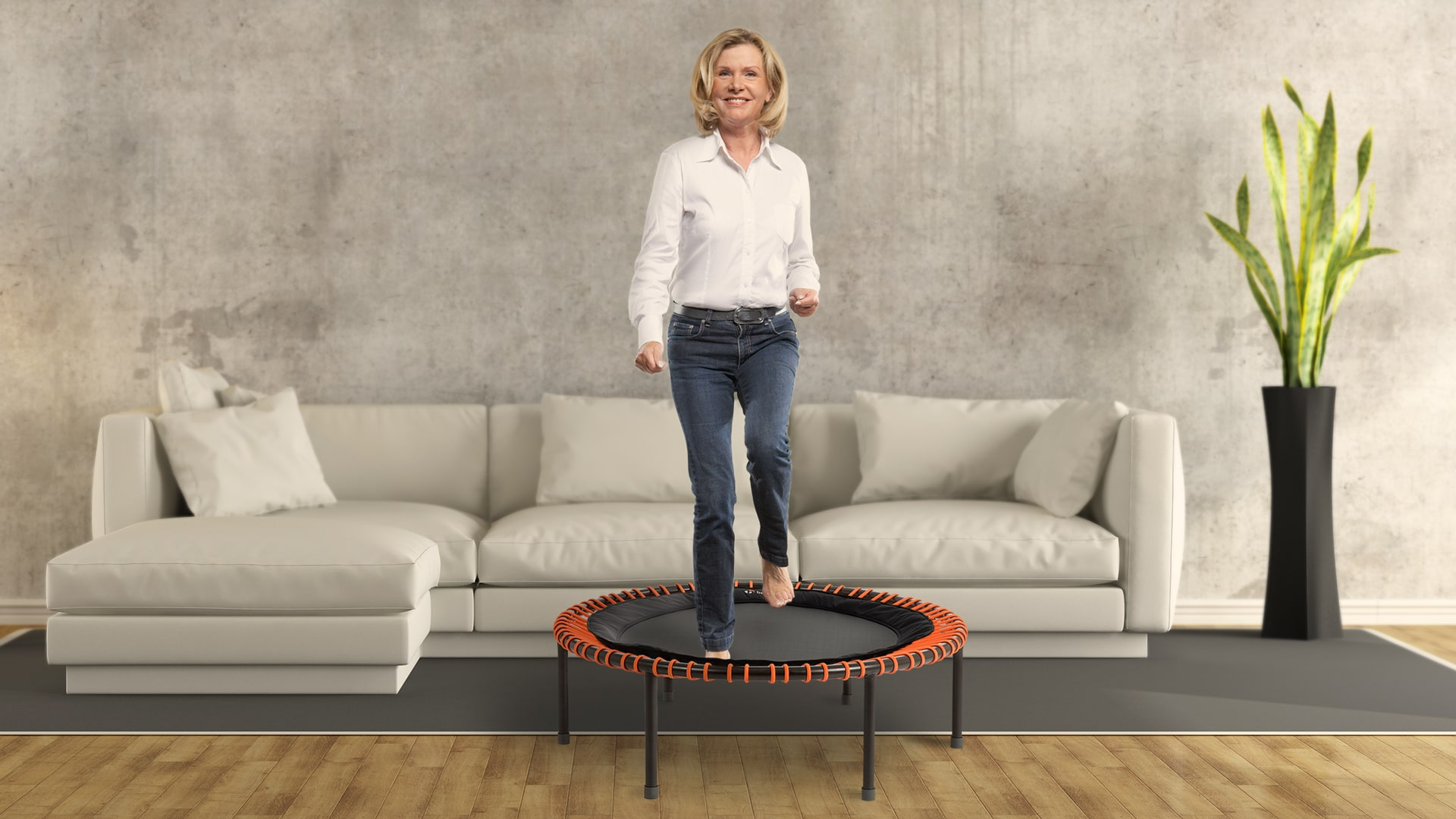 prevent osteoporosis with the trampoline