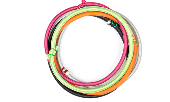 A photo of the unique bellicon bungee rings in diverse colour and various strengths