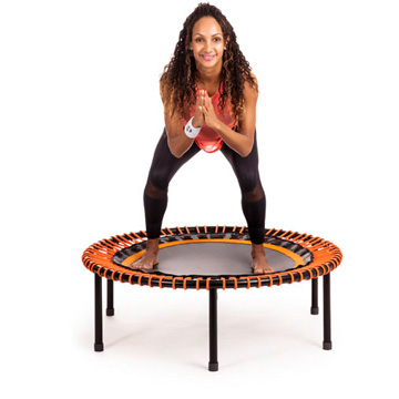 "Woman doing ""Bounce-exercises"" on a bellicon"
