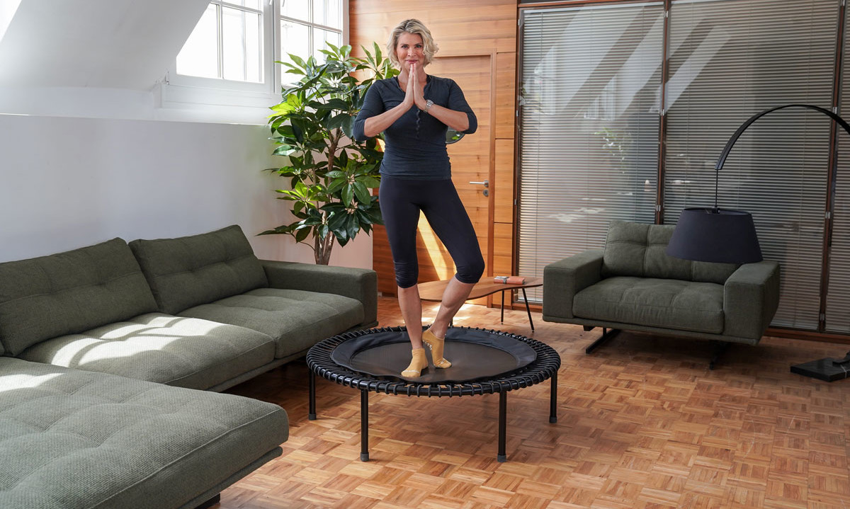 Relieve tension with the trampoline