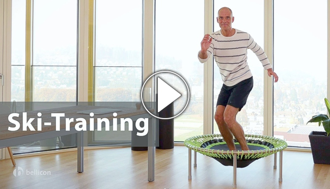 Skitraining-Video mit Remy, Playbutton