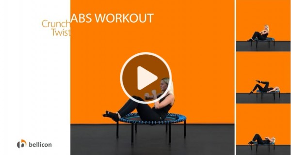 bellicon® fitness trampoline abs workout