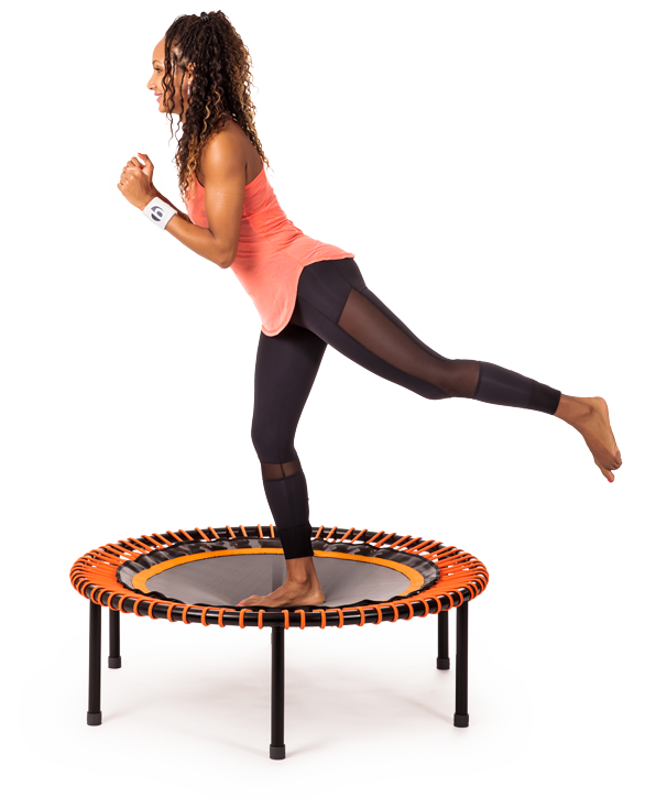 Run training on the bellicon mini trampoline