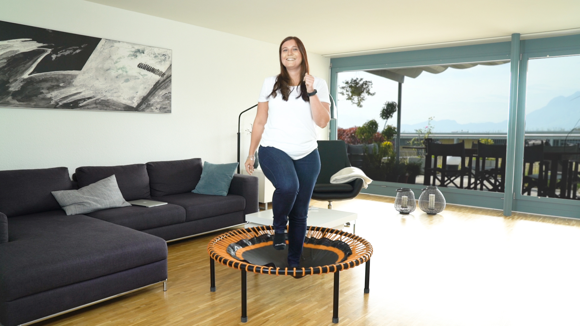lose weight with the mini trampoline