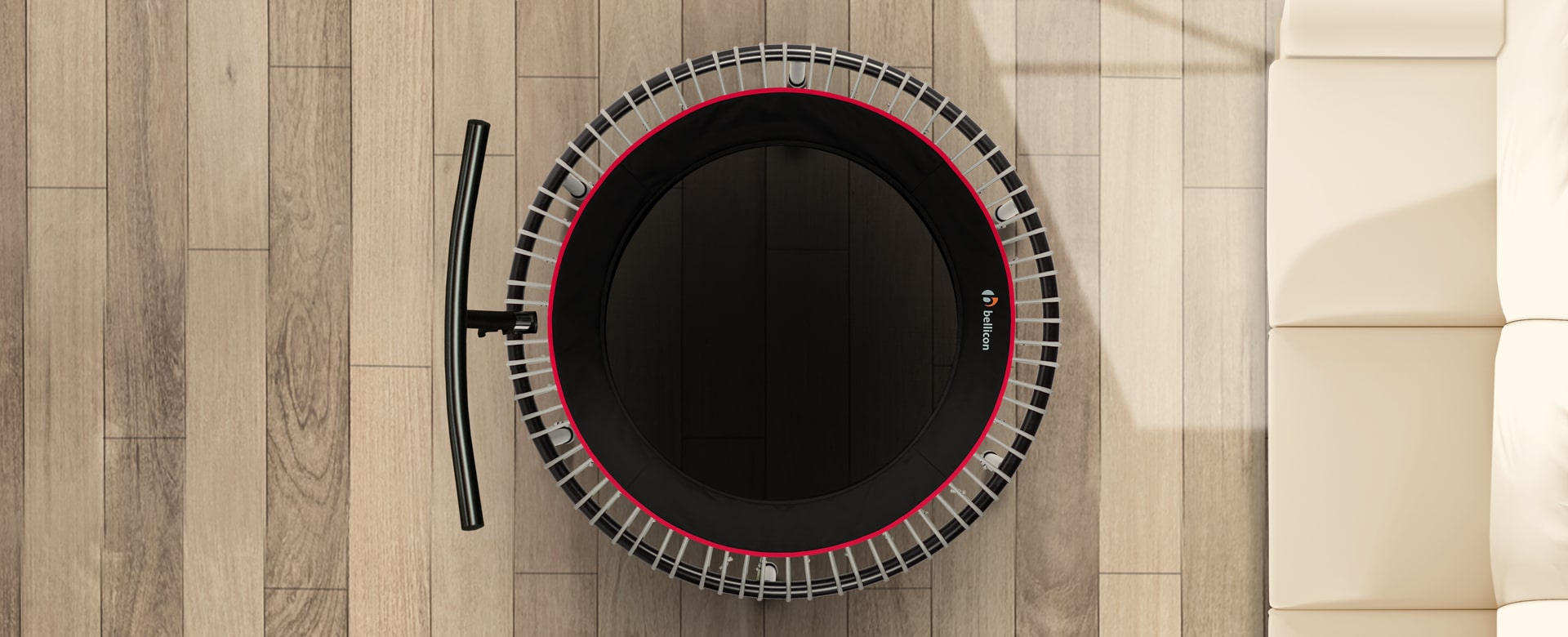 mini trampoline with bar