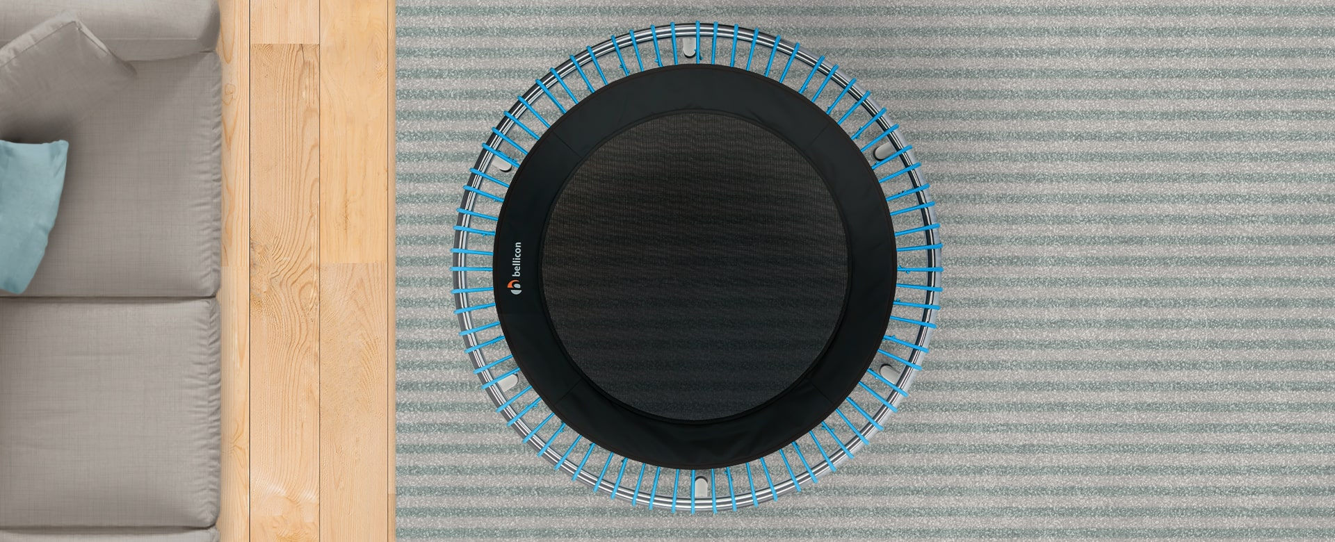 mini trampoline blue