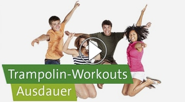 Trampolin-Workout-Video der AOK, Playbutton