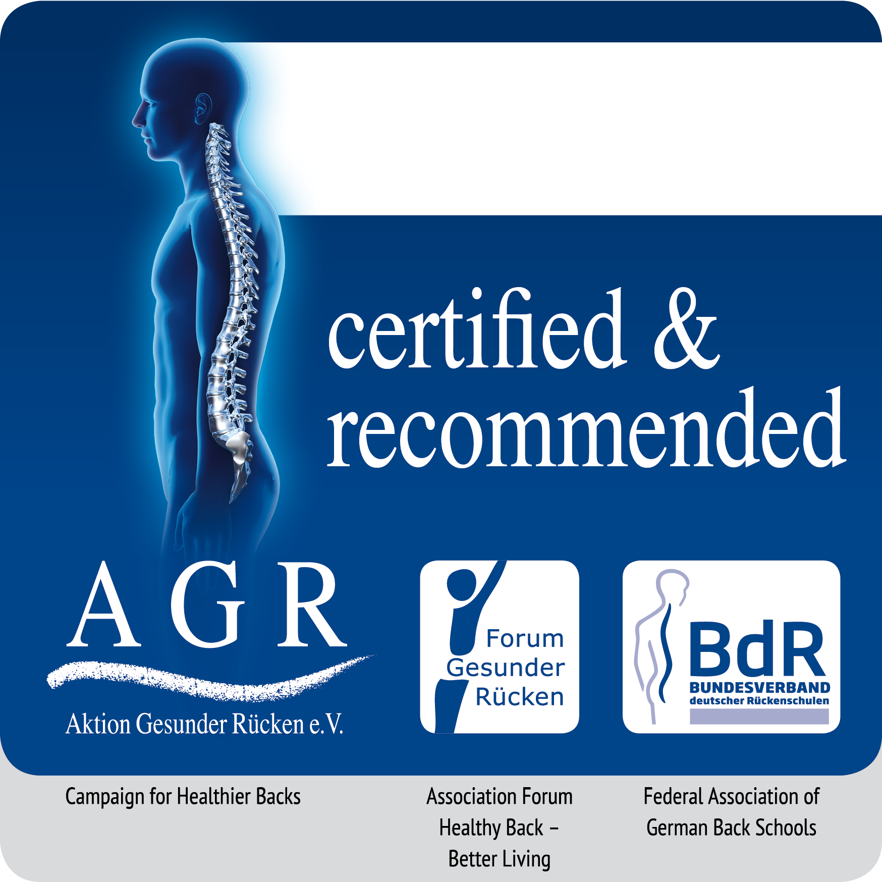 The AGR seal of approval granted to bellicon®