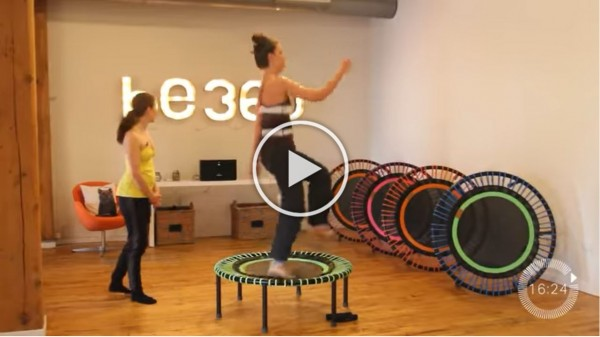 30 minute cardio routine on a rebounder