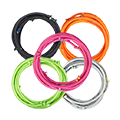 five bellicon® bungee rings in a variety of colours