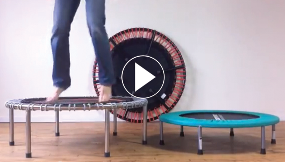 A two minute video comparing noise levels of the bellicon trampoline with spring based rebounders