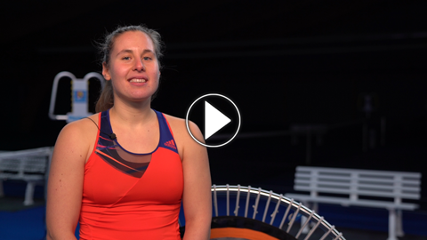 Interview zum bellicon® Minitrampolin mit Tennisprofi Julia Kimmelmann