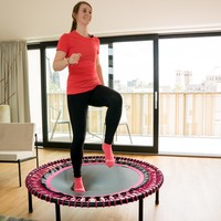 Woman running on a bellicon trampoline
