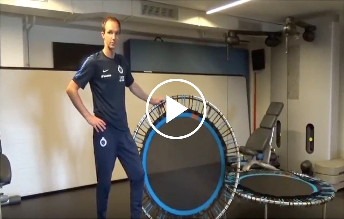 bellicon® mini-trampoline bij voetbalclub Club Brugge introductievideo