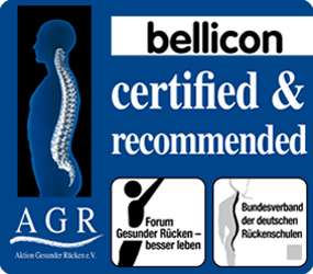 AGR seal of approval for back friendly training on the bellicon