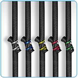 Five bellicon® bungee strengths