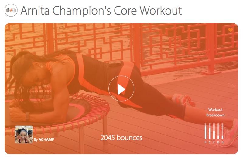 Arnita Champion's Core Workout