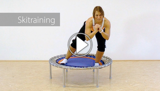 Skitraining-Video mit Petra, Playbutton