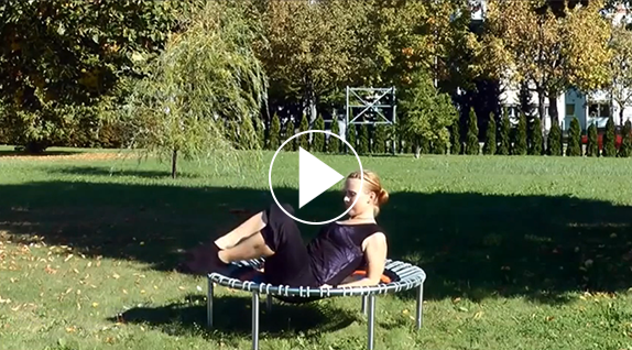 Exemple d'exercice de fuselage (pilates) sur le bellicon®