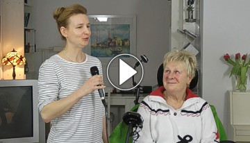 Video mit Dr. Irmgard Bärend, Playbutton