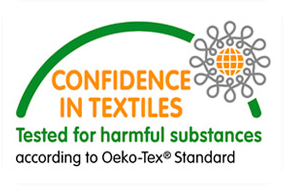 Logo: Confidence in textiles tested for harmful substances, Oeko-Tex® standard 100
