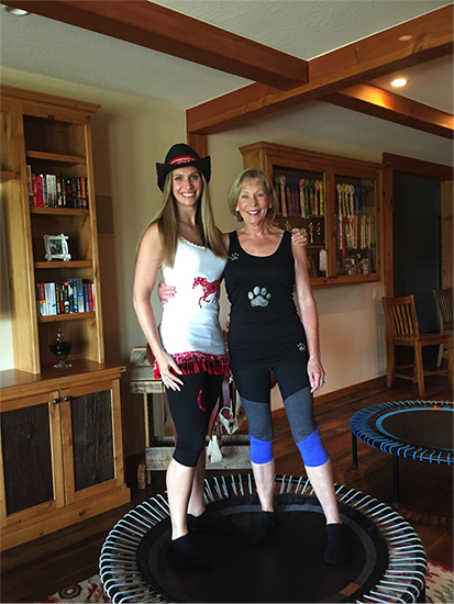 Deb with Mastertrainer Tara
