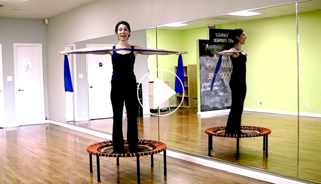 Relaxation workout clip with Fayth Caruso, video play symbol