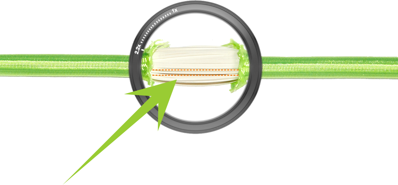 a cross section view of the bellicon® high performance bungee rings